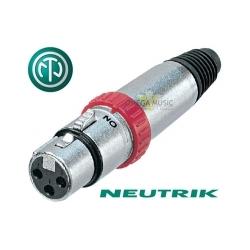NEUTRIK NC3FXS - Złącze XLR żeńskie z przałącznikiem
