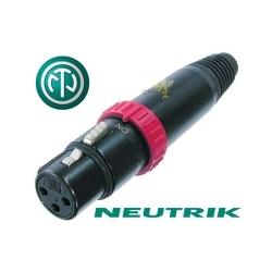 NEUTRIK NC3FXS-B - Złącze XLR żeńskie z przałącznikiem