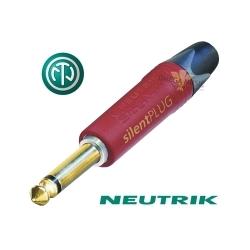 NEUTRIK NP2X-AU-SILENT - Złącze JACK 6,3mm mono z wylacznikiem
