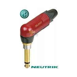 NEUTRIK NP2RX-AU-SILENT - Złącze JACK 6,3mm mono kątowe z wylacznikiem