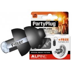 Alpine Party Plug profesjonalne zatyczki, stopery do uszu czarne