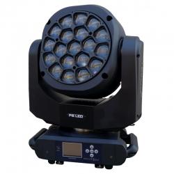 PG LED RUCHOMA GŁOWA WASH BEAM + ROTO 19X15W RGBW BIG-EYE